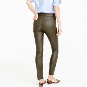 J. Crew Collection Leather Pants in Dark Cypress